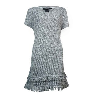 Style & Co. Women's Tiered Fringe Marled Sweater
