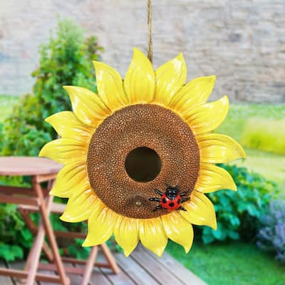Exhart Sunflower Hanging Bird House, 8.5 by 5 Inches