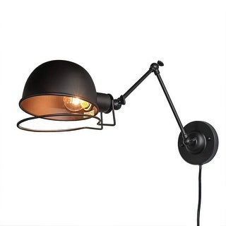 Vintage industrial swing arm wall sconce,black wall light fixture