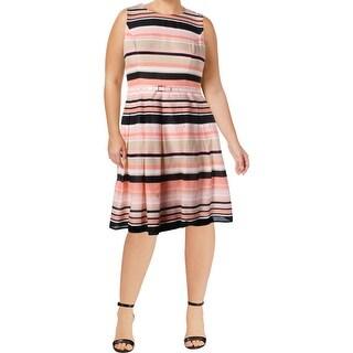 Tommy Hilfiger Womens Wear to Work Dress Cotton Striped
