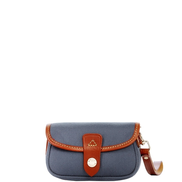 Dooney & Bourke Cabriolet Flap Wristlet (Introduced by Dooney & Bourke at $45 in Feb 2017) - Dark Grey