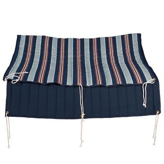 """82"""" x 50"""" Blue and Gray Reversible Quilted Reversible Hammock Pad"""
