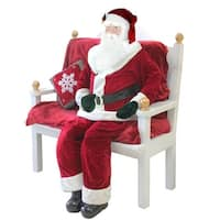 Huge 6 Foot Life-Size Decorative Plush Standing Santa Claus - RED