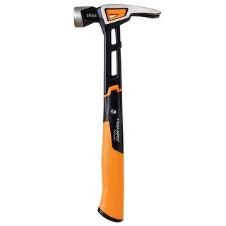 "Fiskars 750220-1001 IsoCore General Use Hammer, 13.5"", 20 OZ"