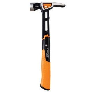 "Fiskars 750220-1001 IsoCore General Use Hammer, 13.5"", 20 OZ"