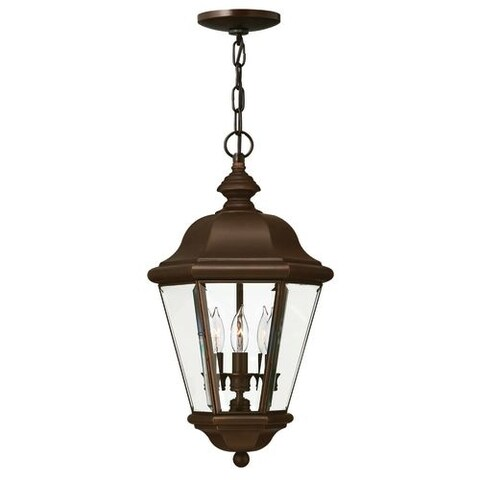 Hinkley Lighting H2422 3 Light Outdoor Lantern Pendant from the Clifton Park Collection