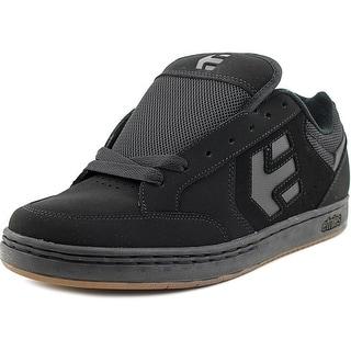 Etnies Swivel Men Round Toe Leather Black Skate Shoe