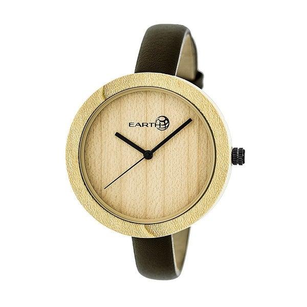 Earth Wood Yosemite Unisex Quartz Watch, Genuine Leather Band
