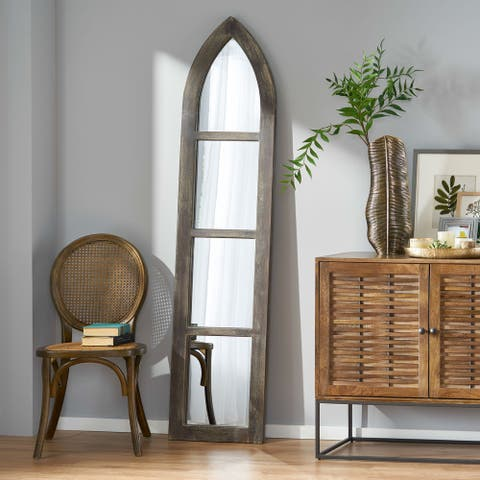 Guill Indoor Acacia Wood Traditional Standing Mirror by Christopher Knight Home