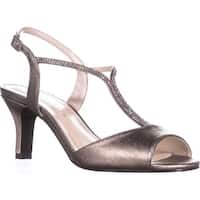 Caparros Delicia Sparkle T-Strap Peep Toe Dress Sandals, Mushroom