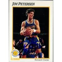 Signed Petersen Jim Golden State Warriors 1991 NBA Hoops Basketball Card autographed