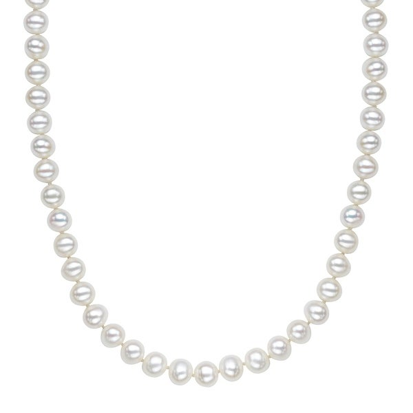Honora 8-9 mm Freshwater Pearl Strand Necklace in Sterling Silver