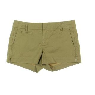Vince Womens Twill Midi Casual Shorts