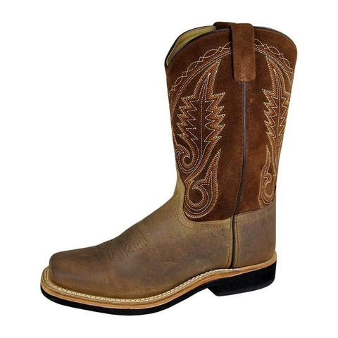 Smoky Mountain Western Boots Mens Boonville Brown