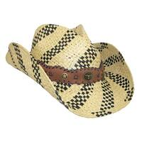 Something Special Two Tone Woven Cowboy Hat