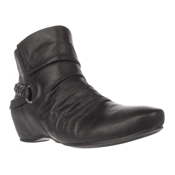 Baretraps Sana Wedge Ankle Booties, Black