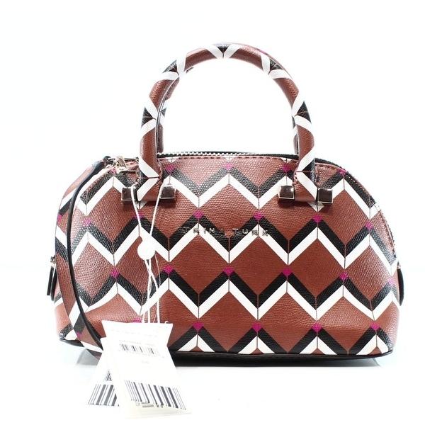 Trina Turk New Brown Mocha Las Palmas Pee Dome Satchel Bag Purse