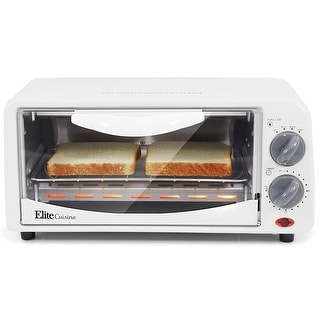 Link to Elite Cuisine 2 Slice Toaster Oven with Broiler & Timer ETO-224 Similar Items in Kitchen Appliances