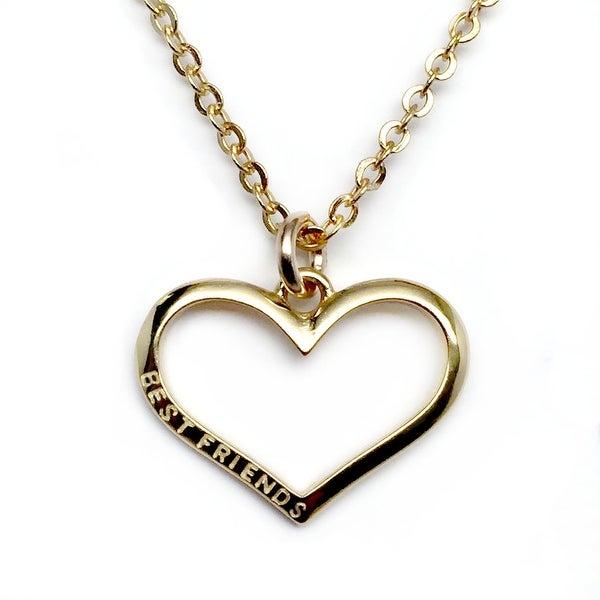"""Julieta Jewelry Best Friends Heart Gold Charm 16"""" Necklace"""