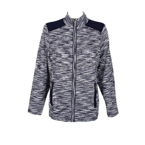 75e6191f7a3 Shop Charter Club Plus Size Intrepid Blue Space-Dyed Jacket X - 0X ...