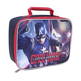 Marvel Captain America Civil War Insulated Lunch Kit, 9.25x7.5x3.25 Inches