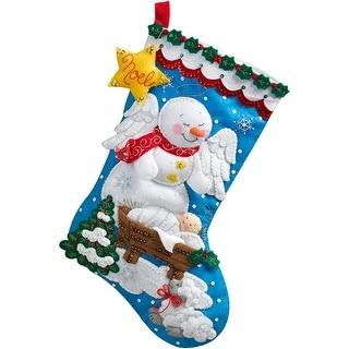 "Snow Angel Stocking Felt Applique Kit-18"" Long"