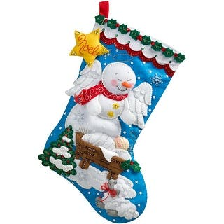 """Snow Angel Stocking Felt Applique Kit-18"""" Long https://ak1.ostkcdn.com/images/products/is/images/direct/628a804623046529437b23fb58efa40f5517bd8b/Snow-Angel-Stocking-Felt-Applique-Kit-18%22-Long.jpg?impolicy=medium"""