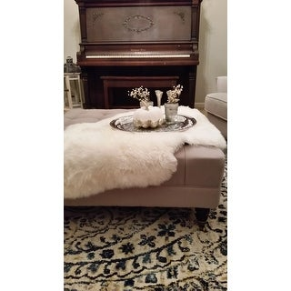 Natural Pelt Sheepskin Wool White Shag Rug - 2' X 3' - 2' X 3'