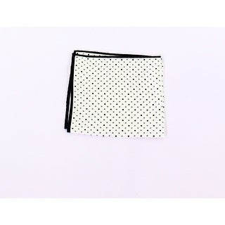 Club Room NEW White Black Mens One Size Assorted Dot-Print Pocket Square