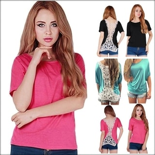 Fashion Sexy Women Summer Short Sleeve Blouse Casual Tank Tops Hollow Hem Lace Top Vest T-Shirt
