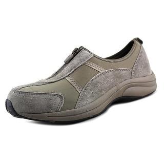 Easy Spirit Walk4Zip Round Toe Suede Sneakers