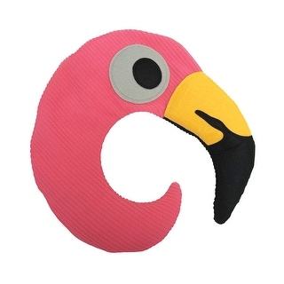 Huggable Pink Flamingo Neck Pillow - Microwaveable for Soothing Heat