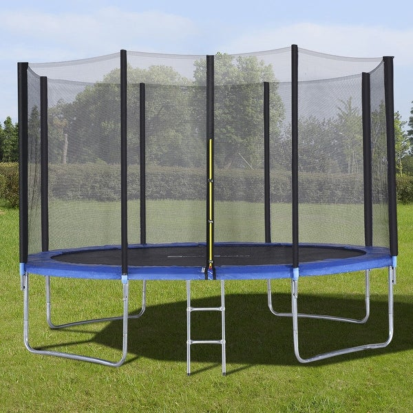 Shop Gymax 12 FT Trampoline Combo Bounce Jump Safety