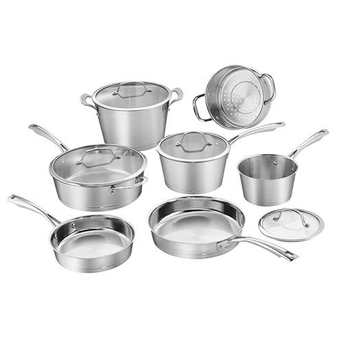 """""""Cuisinart 11Pc Conical Induction SS Set Conical Induction SS Set Cookware"""""""
