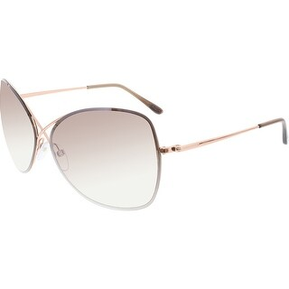 Tom Ford Women's Gradient Colette FT0250-28F-63 Gold Butterfly Sunglasses