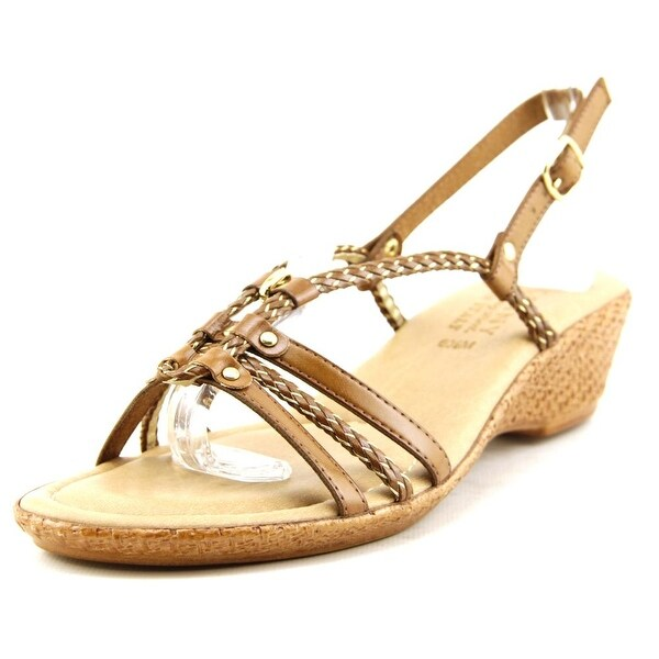 Easy Street Lucca Women WW Open Toe Synthetic Tan Wedge Sandal