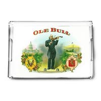 Ole Bull Brand Cigar Box - Vintage Label (Acrylic Serving Tray)