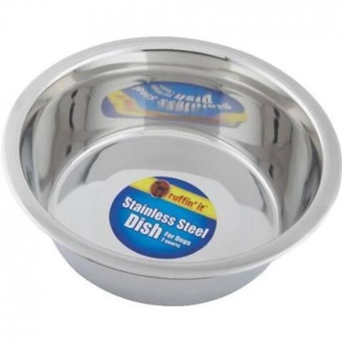 Ruffin' It 15064 Stainless Steel Pet Feeding Bowl, 64 Oz