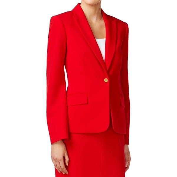 Shop Calvin Klein Womens Petites One Button Suit Jacket One Button