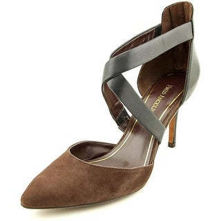 Enzo Angiolini Coadi Women Pointed Toe Leather Brown Heels
