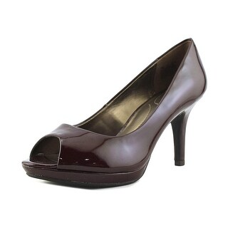 Bandolino Supermodel Women Peep-Toe Synthetic Burgundy Heels