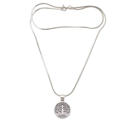 NOVICA Rooted in Hope, Reversible sterling silver pendant necklace