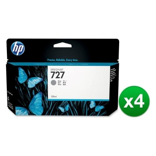 HP 727 130-ml Gray DesignJet Ink Cartridge (B3P24A) (4-Pack)