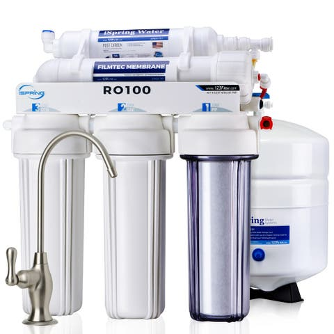 iSpring RO100 5-Stage 100 GPD High Capacity Fast Flow Under Sink Reverse Osmosis Drinking Water Filter Systems