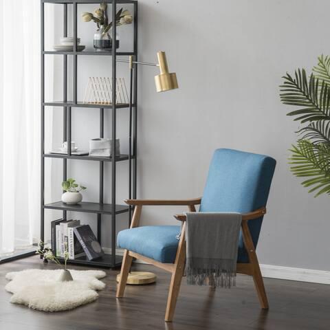 Solid Wood Retro Simple Single Sofa Chair Backrest - 8' x 10'