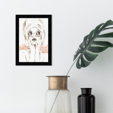 Oliver Gal 'Bath Bomb Beauty' Fashion and Glam Framed Wall Art Prints Portraits - White, Orange