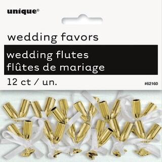 Wedding Flutes 12/Pkg-Gold