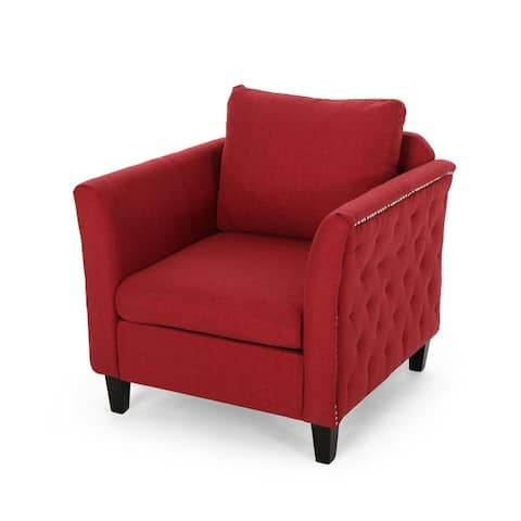 Clostermen Traditional Fabric Club Chair by Christopher Knight Home