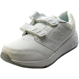 New Balance WW928 Women D Round Toe Leather White Sneakers