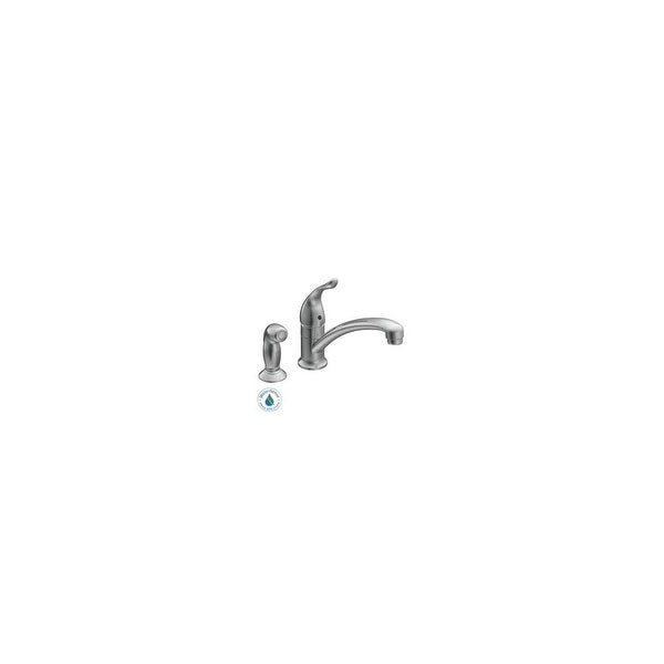 Shop Moen 7437 Single Handle Kitchen Faucet With Side Spray From The